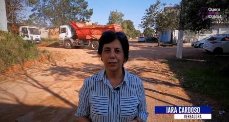 Vereadora Iara Cardoso destaca pavimentação na rua João Haas Sobrinho