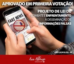 Aprovado em primeira votação PL para combater informações falsas
