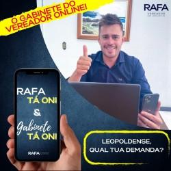 Vereador Rafa cria seu gabinete Online
