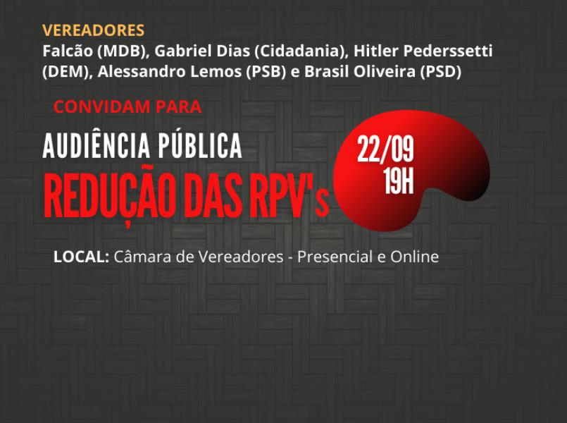 Audiência pública, que tem vereador Falcão, como um dos proponentes, debate a redução do limite das RPVs