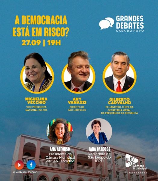 Grandes Debates fala sobre Democracia na próxima segunda-feira