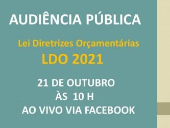 Edital de Convocação Audiência Pública:  LDO/2021