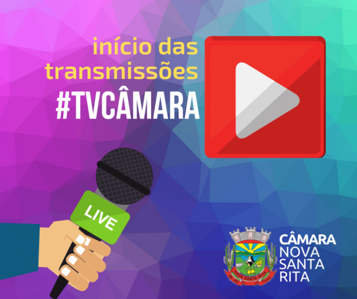 Tem início as transmissões ao vivo das sessões da Câmara de Nova Santa Rita