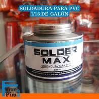 Soldadura Solder MAX para PVC 1.16 de galon