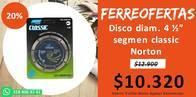 Disco Diam. 4 1/2 Segment Classic Norton