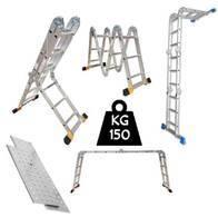 Escalera Multiproposito 12 Pasos 3.37Mt Con Bandejas