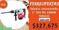 Taladro Rotomartillo 1 Sds Pls 1500W Tkrh32 Takima
