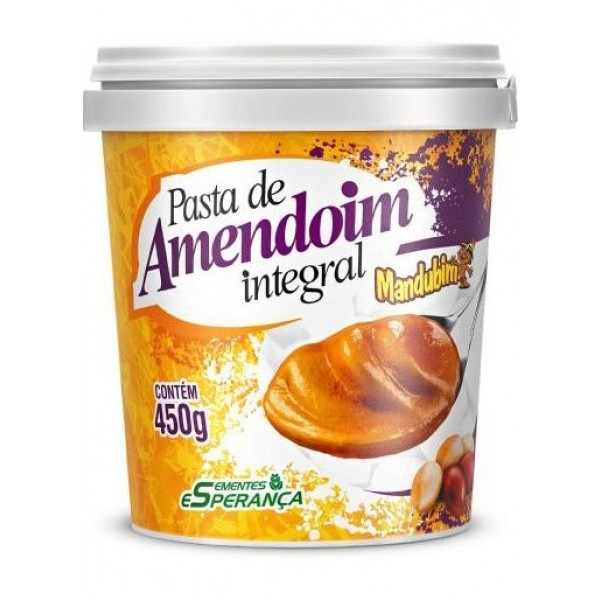 Pasta de amendoim Mandubim 450g
