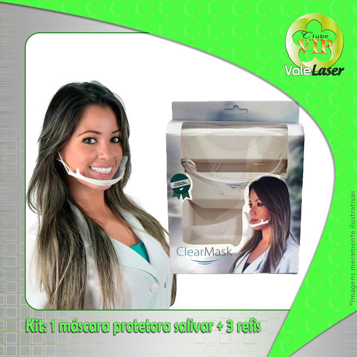 Kit 1 Máscara de proteção salivar + 3 refis