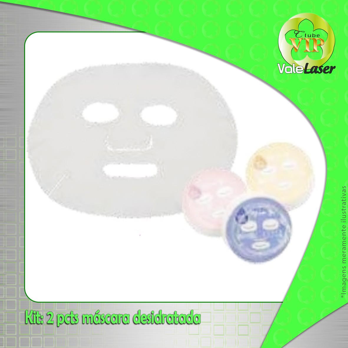 Kit 2 pcts máscara desidratada