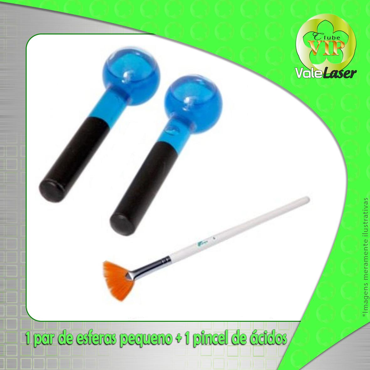 Kit 1 par de esferas P + 1 pincel de ácidos