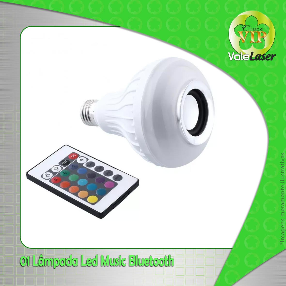 Lâmpadas de LED com música