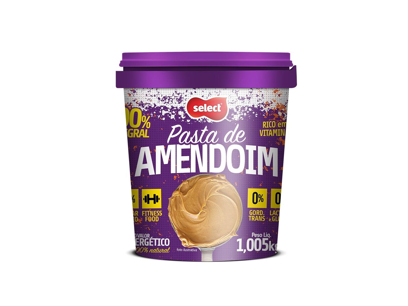 Select Pasta de Amendoim 1,005 kg