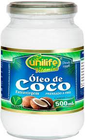 Oleo de coco unilife de 500 ml.