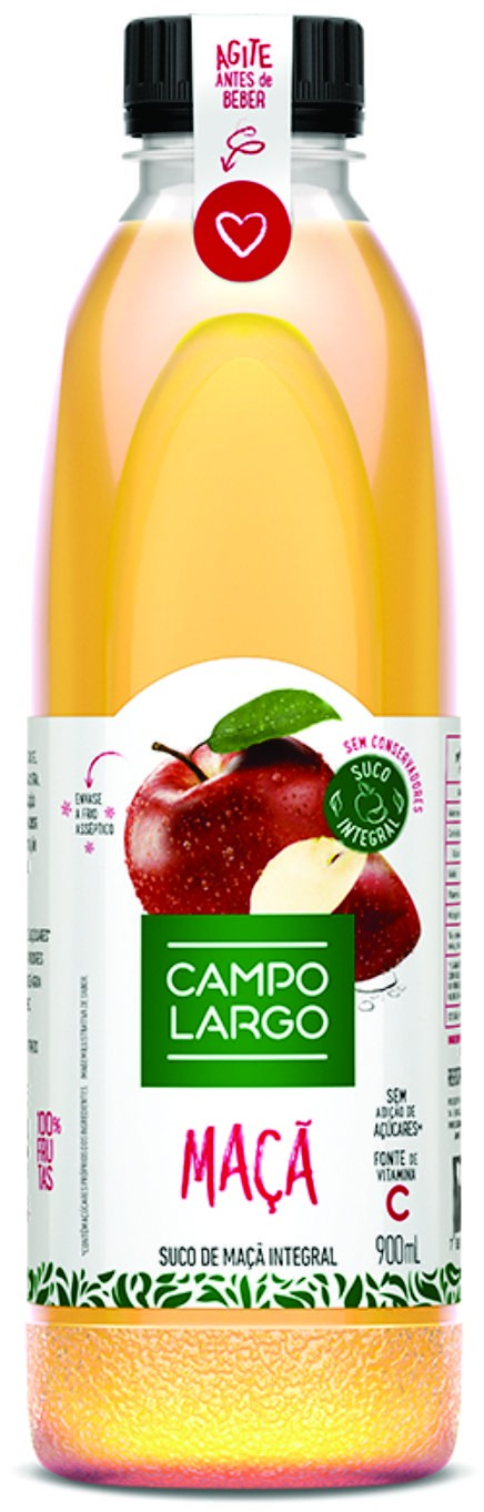 Campo Largo suco de maça 900 ml (garrafa pet).