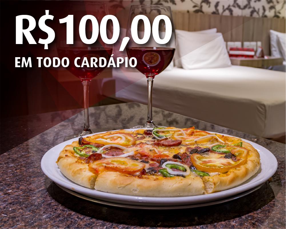 R$100,00 no cardápio