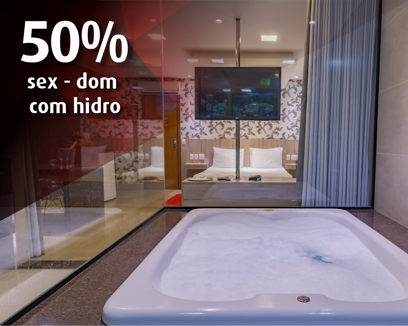 50% - fim de semana - c/hidro