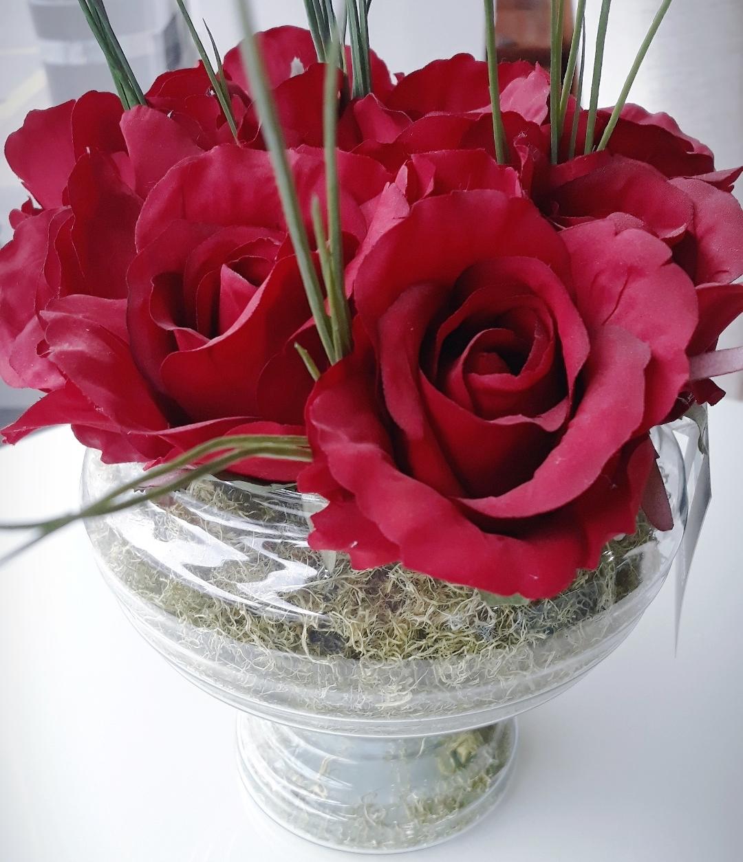 Vaso Rosas Vermelha