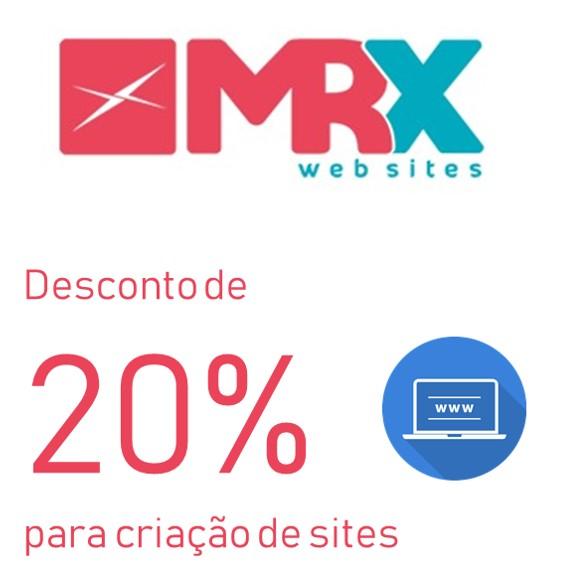 Desconto de 20% para  Site institucional básico MRX