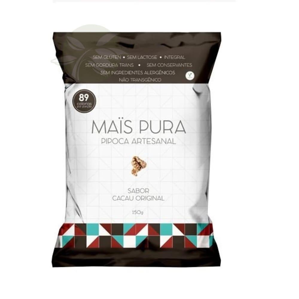 Pipoca artesanal Mais Pura sabor Cacau Original