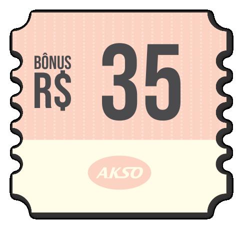 Bônus de R$ 35,00