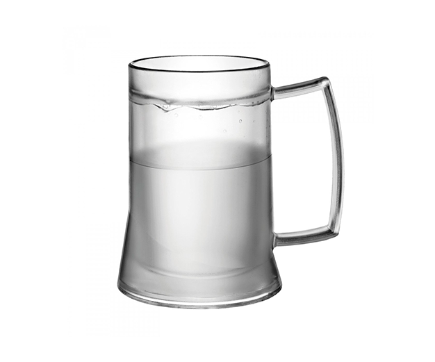 Caneco térmico com gel 400 ml transparente - 600 pontos