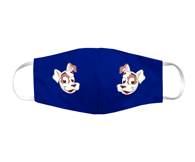 Máscara de tecido divertida azul com o mascote CAJU - 150 pontos