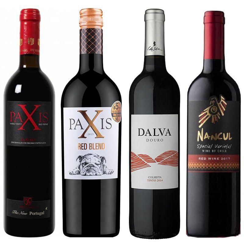 Kit de Vinhos - Seleção Premium contendo 4 Rótulos