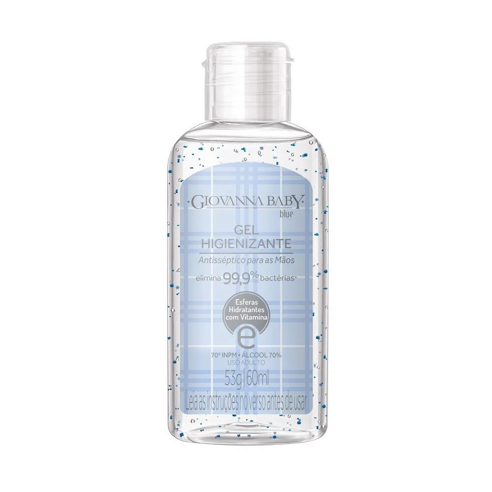 Álcool em Gel 70º GL Higienizante Giovanna Blue Classic 60 ml - 250 pontos