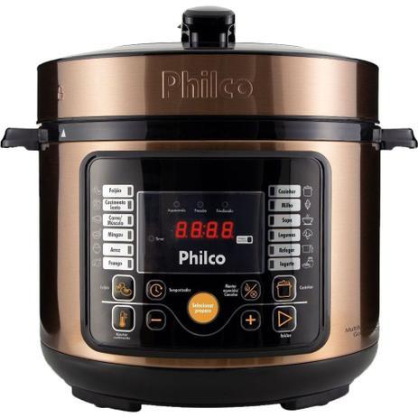 Panela De Pressão Elétrica Philco 5L Multifuncional Digital 15 Funções Gold 110v