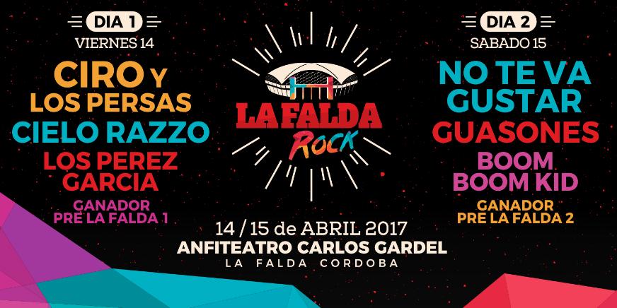 La Falda Rock 2017 ABONO