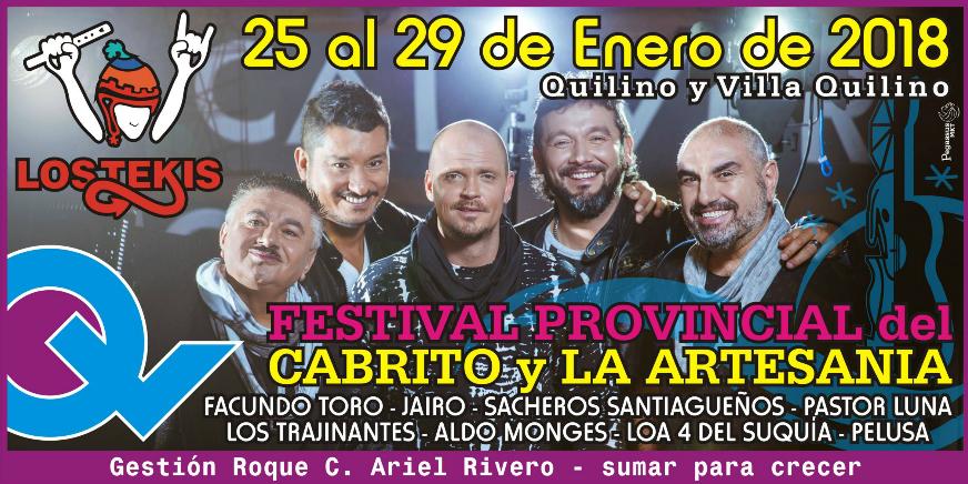 45 º FESTIVAL PROVINCIAL DEL CABRITO Y LA ARTESANIA DE QUILINO Y VILLA QUILINO