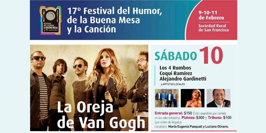 Festival del Humor, la Buena Mesa y la Canción 2018
