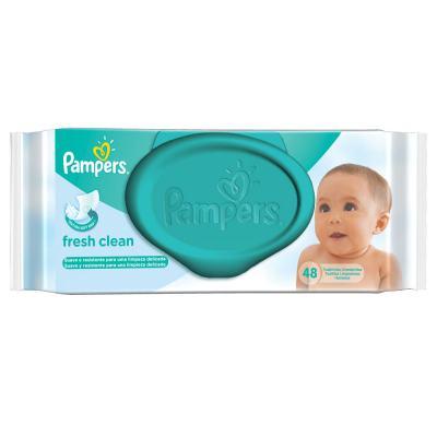 Imagem 1 do produto Lencinhos Umedecidos Pampers Fresh Clean 48 Unidades