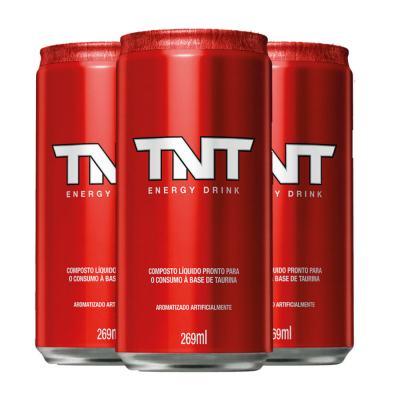 Imagem 1 do produto Kit Energético TNT Energy Drink Original 269ml 3 Unidades