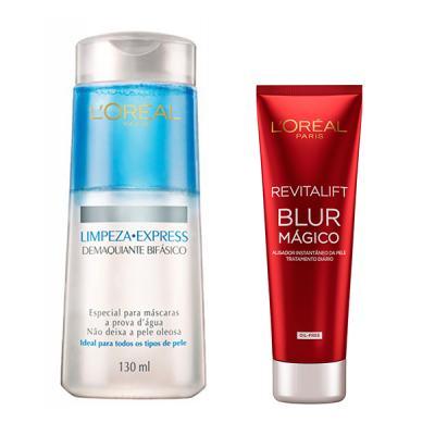 Imagem 1 do produto Demaquilante Bifásico L'Oréal + Creme Facial Loreal Revitalift Blur