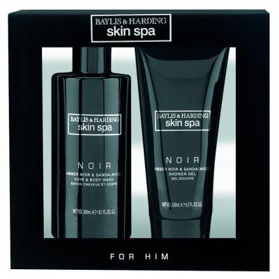 Imagem 1 do produto Âmbar Preto & Sândalo Baylis & Harding - Shampoo 300ml + Sabonete Líquido 200ml - Kit
