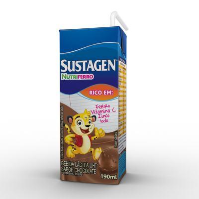 Imagem 1 do produto Suplemento Alimentar Sustagen Nutriferro Chocolate 190ml