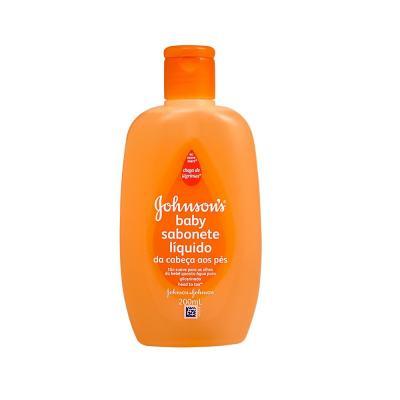 Imagem 1 do produto Sabonete Líquido Johnson's Baby Banho Glicerinado Da Cabeça Aos Pés 200ml