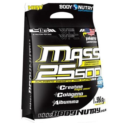 Mass 25500 + Creatina 1,5kg Baunilha - Body Nutry