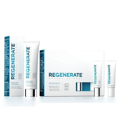 Kit Clareador Dental Regenerate Advanced Sérum Potencializador 32ml + Creme Dental 75ml
