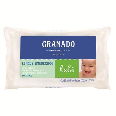 Lenços Umedecidos Granado Bebê Erva Doce 50 Unidades