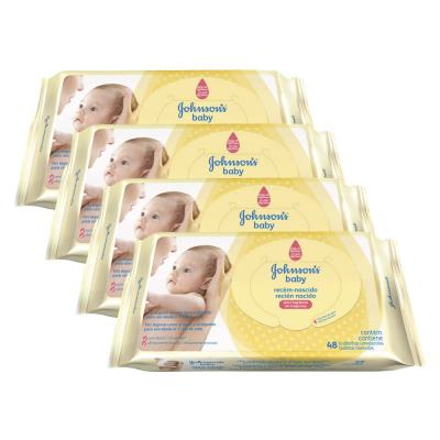 Kit 4 Lenços Umedecido Johnson´s Baby Rn 192 Unidades
