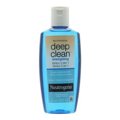 Imagem 6 do produto Tônico 2 Em 1 Energizing Neutrogena Deep Clean 200ml + Neutrogena Sabonete Facial Deep Clean Energizante 80g