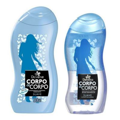 Kit Davene Corpo A Corpo Suave Loção Hidratante 200ml + óleo Bifásico 120ml