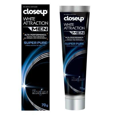 Gel Dental Close Up White Attraction Men Super Pure 70g