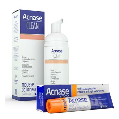 Imagem 1 do produto Kit Acnase Creme Antiacne 25g + Mousse De Limpeza Facial Clean 150ml