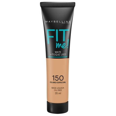 Maybelline Base Líquida Oil Free Fit Me! Cor 150 Claro Especial 35ml