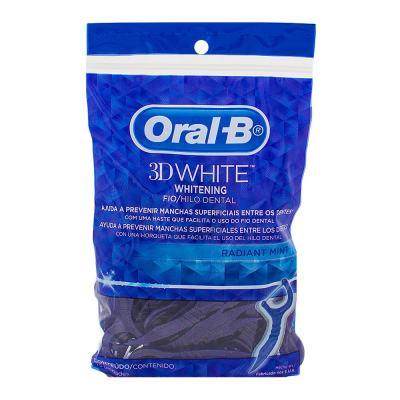 Imagem 1 do produto Fio Dental Oral-b 3d White Flexível Com Haste 75 Unidades