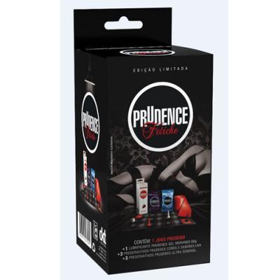 Imagem 1 do produto Kit Prudence Fetiche com Preservativos, Jogo e Gel com Sabor